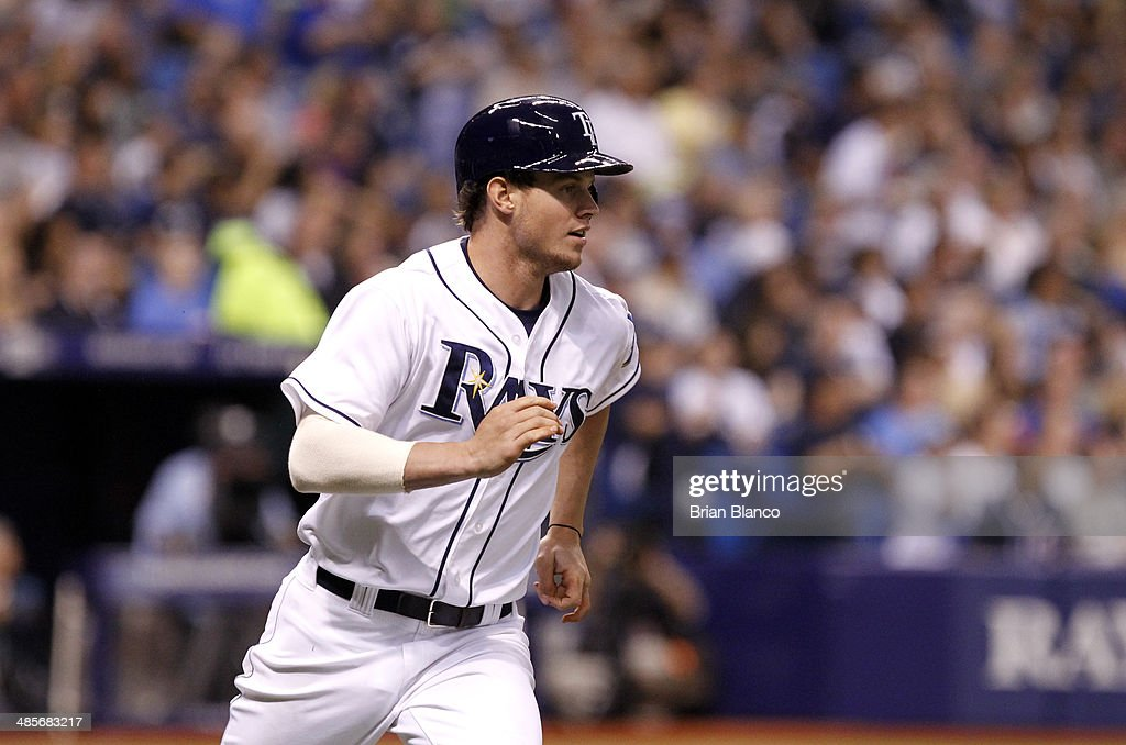 Wil Myers #9 of the Tampa Bay Rays rounds the bases after hitting a solo home run during the second inning of a game against the New York Yankees on April 19, 2014 at Tropicana Field in St. Petersburg, Florida.
