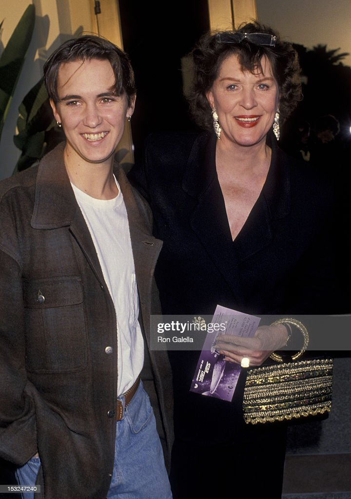 Wil Wheaton and Majel Barrett attend the screening of 'All Good Things' on May 19 1994 at the Paramount Theater in Hollywood California