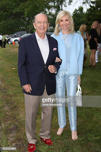 Wilbur Ross and Hilary Geary Ross attend the Southampton Hospital's 56th Annual 'Endless Summmer' party on August 2 2014 in Southampton New York
