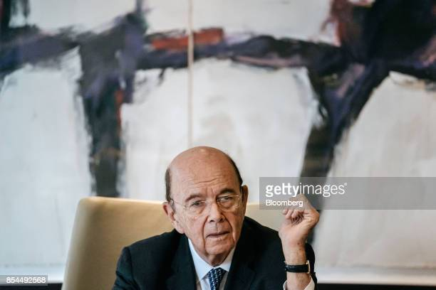 Wilbur Ross US commerce secretary speaks during a media roundtable in Hong Kong China on Wednesday Sept 27 2017 Ross said that the tone in Beijing is...