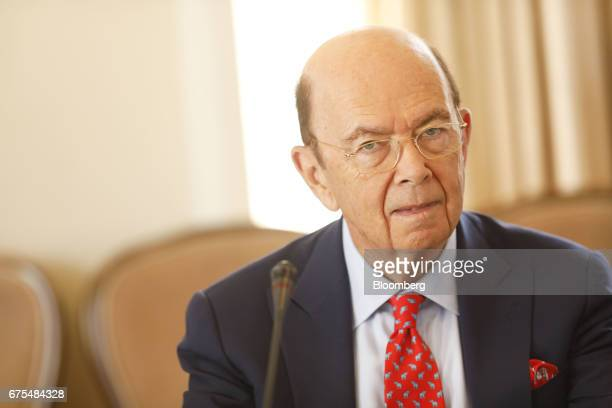 Wilbur Ross US secretary of commerce listens during the Milken Institute Global Conference in Beverly Hills California US on Monday May 1 2017 The...