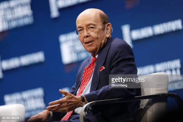 Wilbur Ross US secretary of commerce speaks during the Milken Institute Global Conference in Beverly Hills California US on Monday May 1 2017 The...