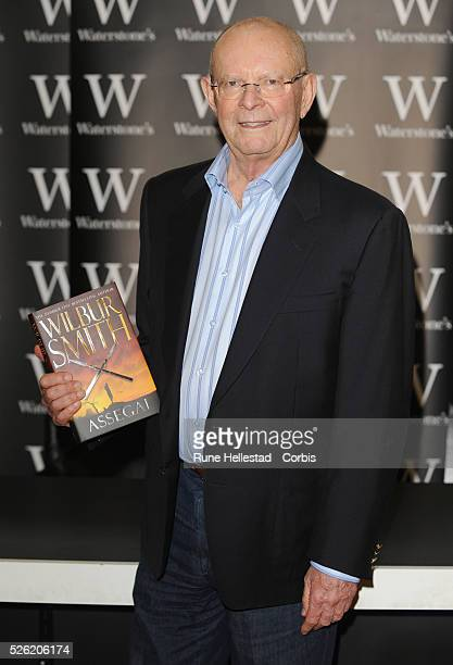Wilbur Smith attends a booksigning at Waterstone's Piccadilly