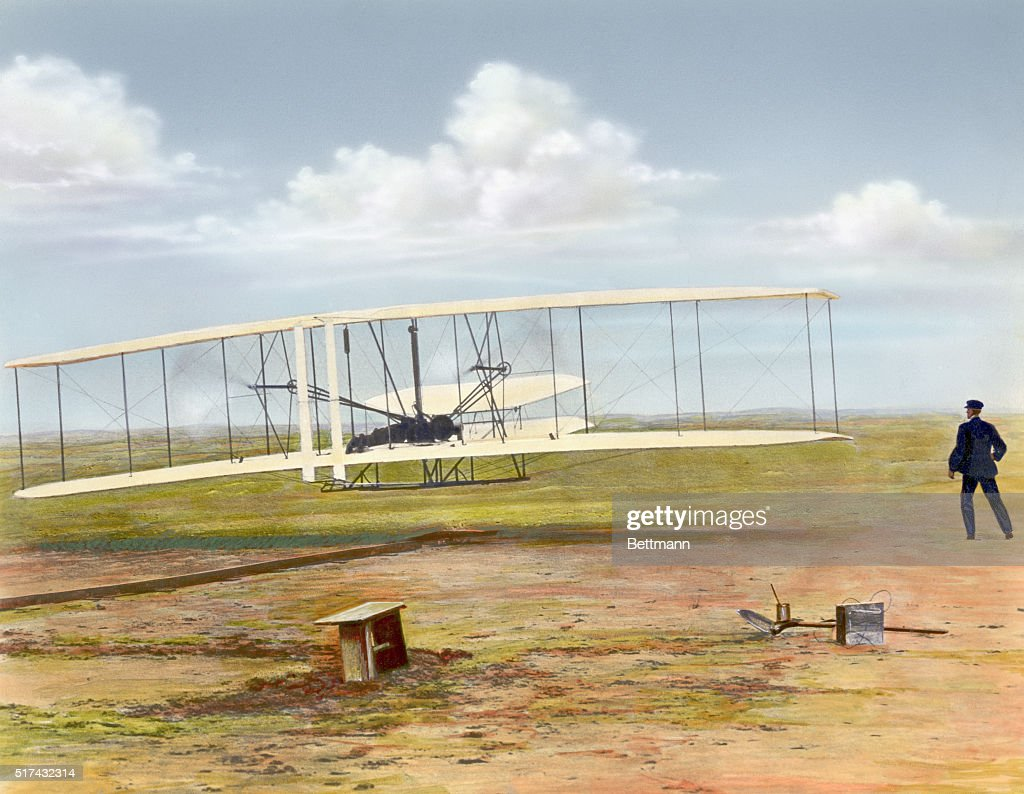 First Wright Brothers Flight intended for illustration of wright brothers' first motor propelled flight