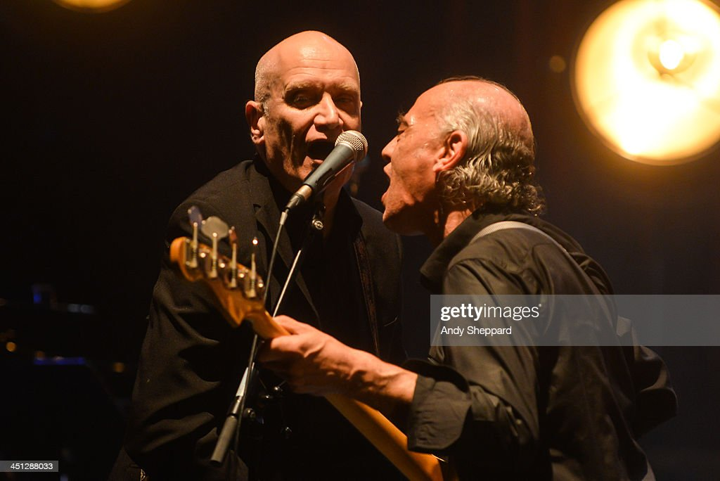 Wilco Johnson and <a gi-track='captionPersonalityLinkClicked' href=/galleries/search?phrase=Norman+Watt-Roy&family=editorial&specificpeople=5836849 ng-click='$event.stopPropagation()'>Norman Watt-Roy</a> perform on stage at Queen Elizabeth Hall during day 7 of London Jazz Festival 2013 on November 21, 2013 in London, United Kingdom.