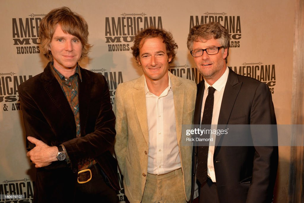 Wilco's Pat Sansone and John Stirratt with the Americana Music Association's Jed Hilly attend the 12th Annual Americana Music Honors And Awards Ceremony Presented By Nissan on September 18, 2013 in Nashville, Tennessee.