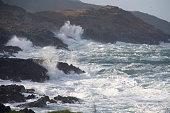 Stormy high seas on the Wild Atlantic Way, Sheeps Head, Bantry Bay,Cork