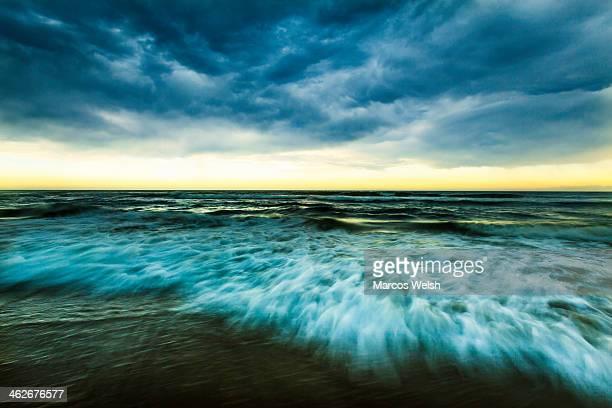 Wild beach in Ballina, New South Wales, Australia