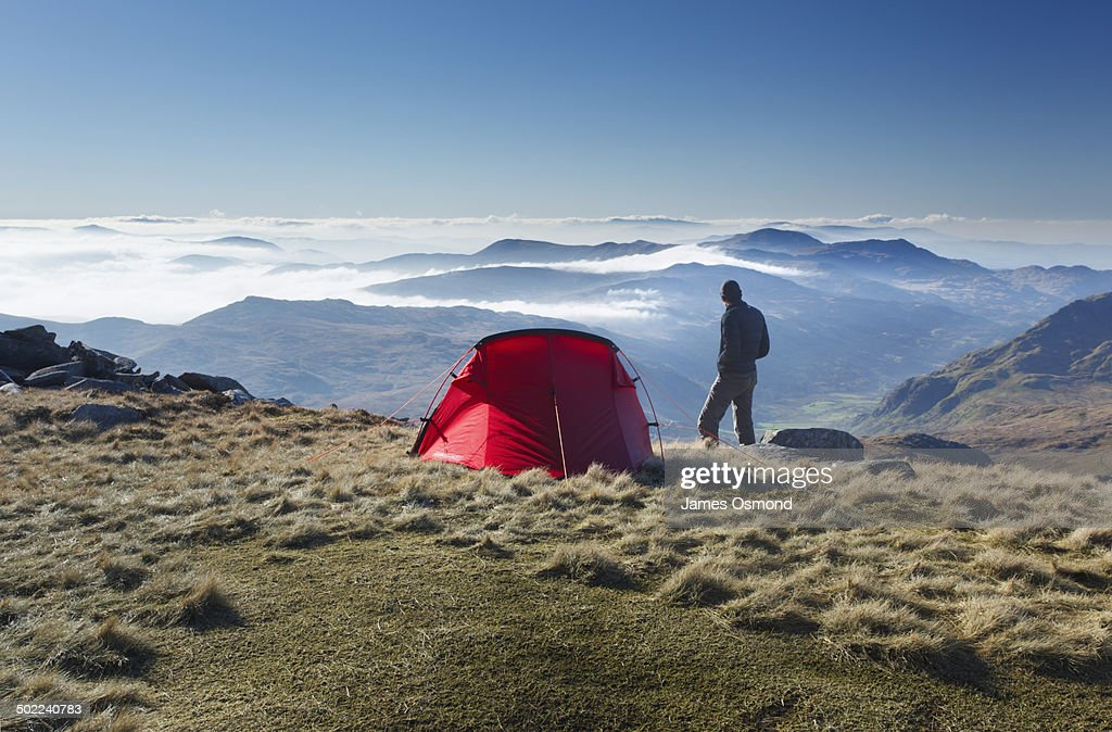 Wild Camping in the Glyderau Mountains.