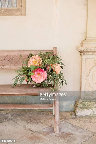 Wild looking flower arrangement