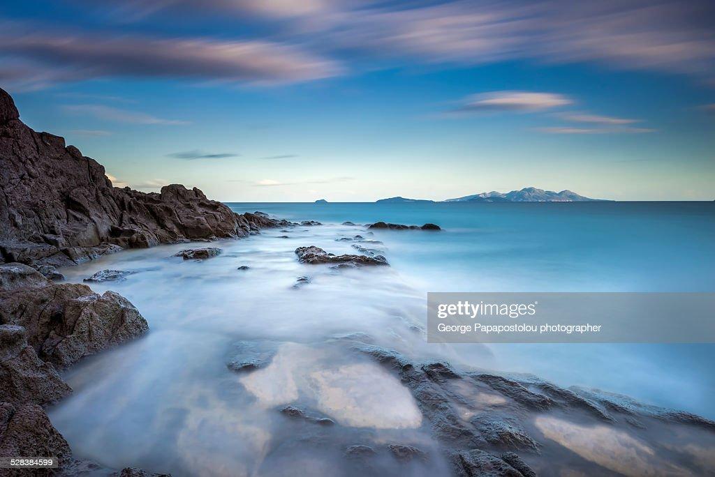 Wild seascape in Kos island Greece