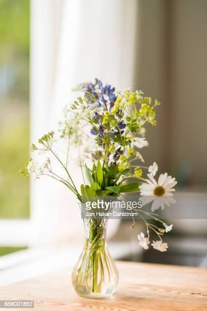 Wild summer flowers in vase