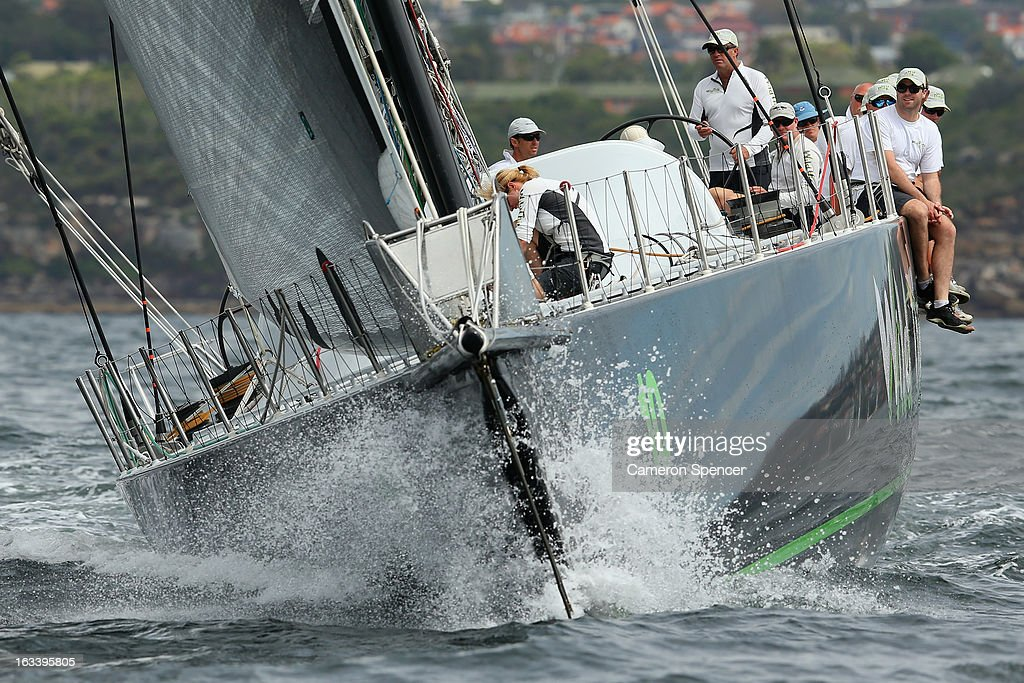 'Wild Thing' races during the Sydney Regatta on Sydney Harbour, on March 9, 2013 in Sydney, Australia.