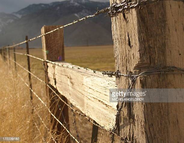 Wild West Wooden Barbed Wire Fence