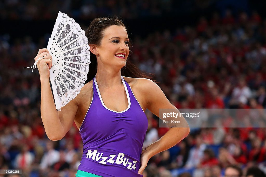 A Wildcats dancer performs during the round 24 NBL match between the Perth Wildcats and the New Zealand Breakers at Perth Arena on March 22, 2013 in Perth, Australia.