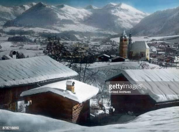 Wilder Kaiser peak near Kitzbuehel in Tyrol 1920s