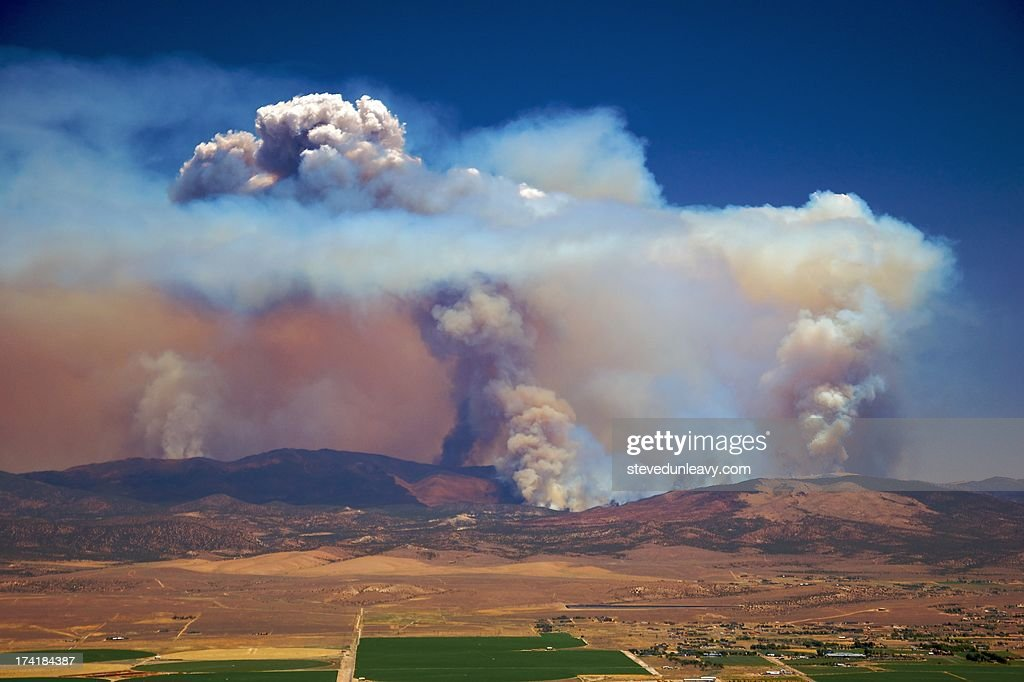 Wildfire, Carson Valley, NV. : Stock Photo