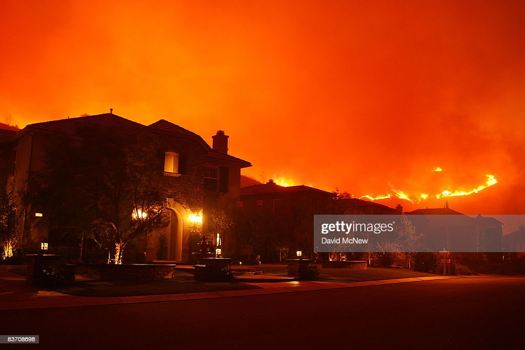 Wildfire Draws Close To House On November 15 2008 In Yorba Linda California