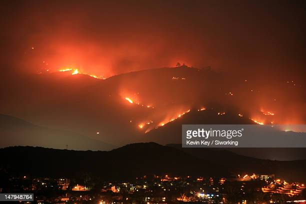 Wildfire in San Diego roars up and down mountain