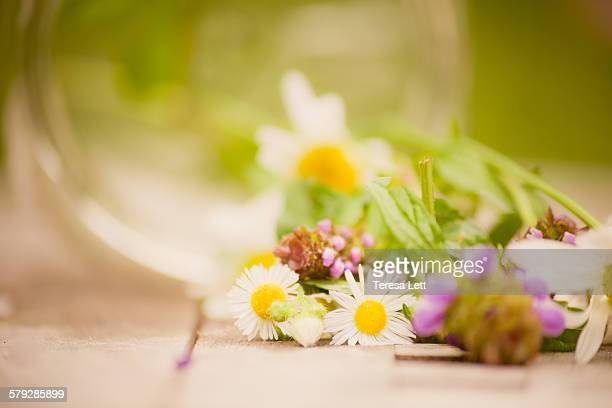 Wildflowers with a glass jar