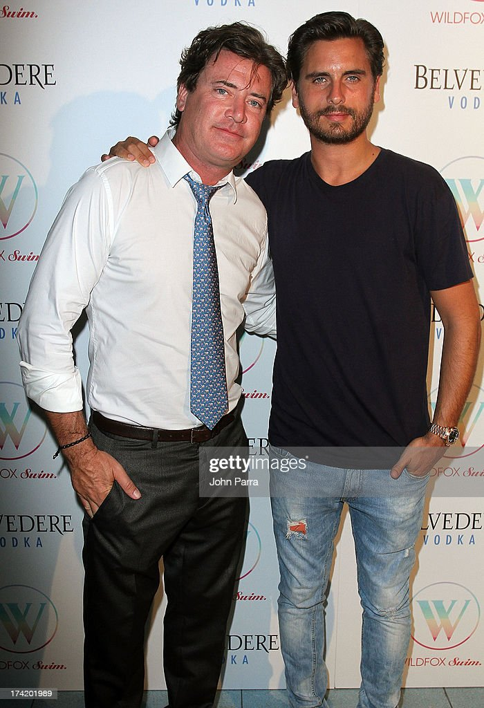 Wildfox CEO and President Jimmy Sommers (L) and TV personality <a gi-track='captionPersonalityLinkClicked' href=/galleries/search?phrase=Scott+Disick&family=editorial&specificpeople=4420046 ng-click='$event.stopPropagation()'>Scott Disick</a> attend the Wildfox Swim Cruise 2014 show at Soho Beach House on July 21, 2013 in Miami Beach, Florida.