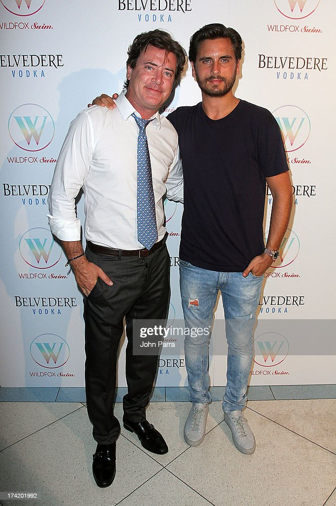 Wildfox CEO and President Jimmy Sommers (L) and TV personality Scott Disick attend the Wildfox Swim Cruise 2014 show at Soho Beach House on July 21, 2013 in Miami Beach, Florida.