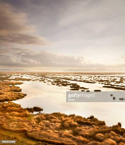 Wildlife preserve at Lake Titicaca