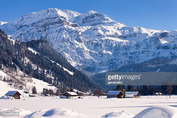 Wildstrubel Mountain, bitterer Kälte Winter Nachmittag, Schweizer Alpen