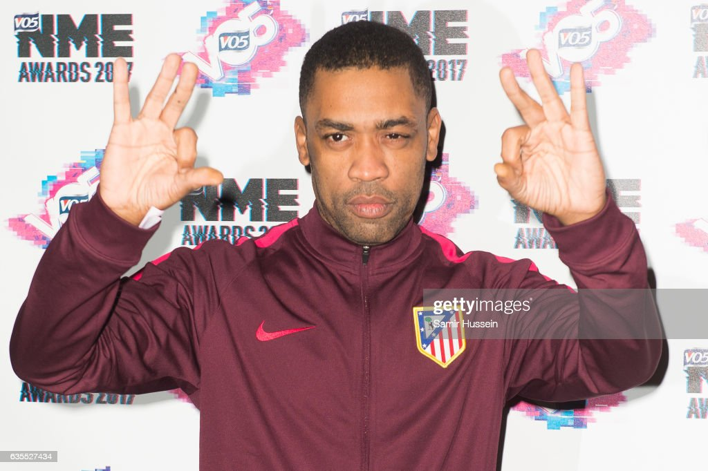 Wiley arrives at the VO5 NME awards 2017 on February 15, 2017 in London, United Kingdom.