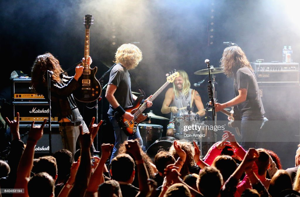 Wiley Hodgden and Dave Grohl of Chevy Metal perform at Oxford Arts Factory on August 29, 2017 in Sydney, Australia.