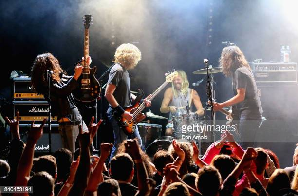 Wiley Hodgden and Dave Grohl of Chevy Metal perform at Oxford Arts Factory on August 29 2017 in Sydney Australia