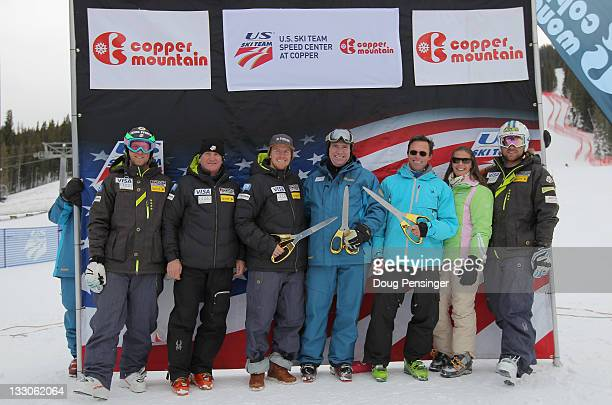 Wiley Maple of the US Men's Alpine Ski Team Bill Marolt President and CEO of USSA Ted Ligety of the US Men's Alpine Ski Team Gary Rodgers President...