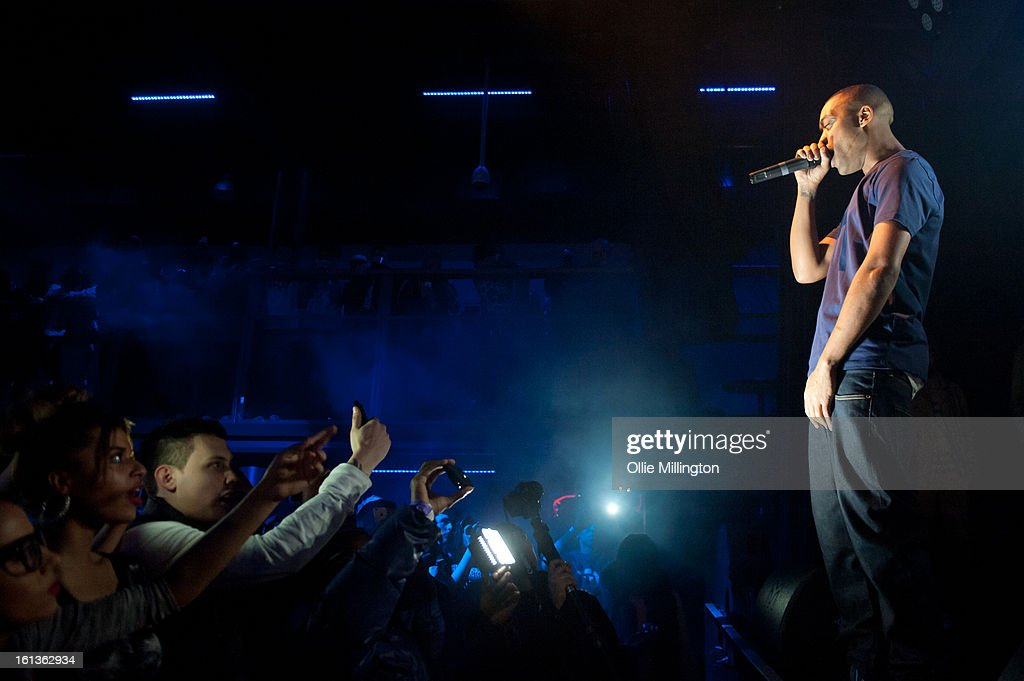 Wiley performs on stage at 'The Eskimo Dance' at 02 Academy on February 9, 2013 in Leicester, England.