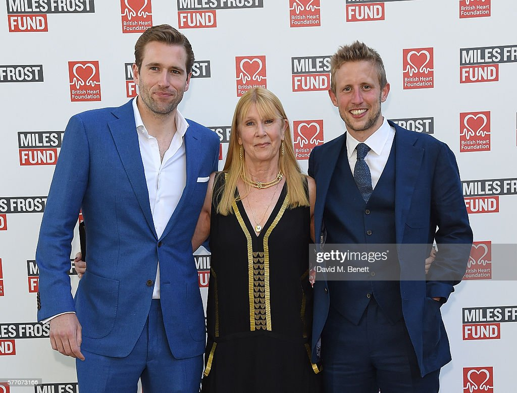 Wilfred Frost, Lady Carina Frost and George Frost attend The Frost family final Summer Party to raise money for the Miles Frost Fund in partnership with the British Heart Foundation on July 18, 2016 in London, England.