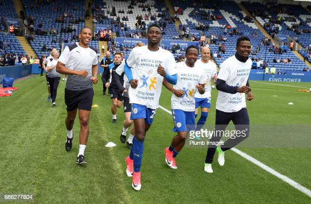 Wilfred Ndidi Ahmed Musa and Daniel Amartey of Leicester City joins Leicester City Club Ambassador Alan Birchenall on his 37th Annual fun run for the...