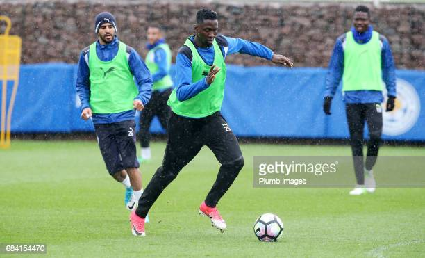 Wilfred Ndidi during the Leicester City training session at Belvoir Drive Training Complex on May 17 2017 in Leicester United Kingdom