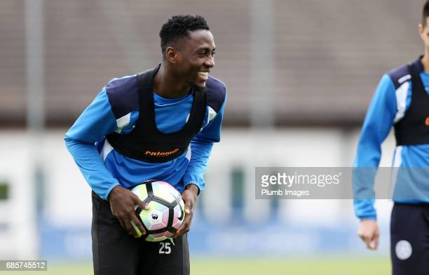 Wilfred Ndidi during the Leicester City training session at Belvoir Drive Training Complex on May 20 2017 in Leicester United Kingdom