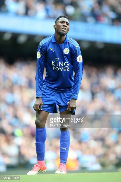 Wilfred Ndidi of Leicester City after the Premier League match between Manchester City and Leicester City at Etihad Stadium on May 13 2017 in...