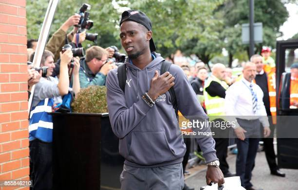 Wilfred Ndidi of Leicester City arrives at Vitality Stadium ahead of the Premier League match between Bournemouth and Leicester City at Vitality...