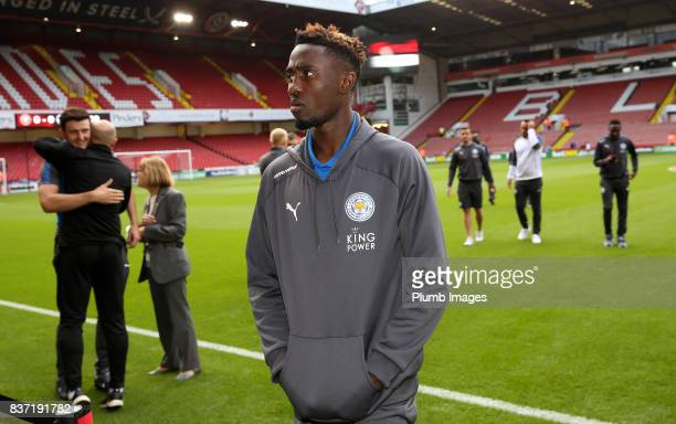 Wilfred Ndidi of Leicester City at Bramall Lane ahead of the Carabao Cup Second Round tie between Sheffield United and Leicester City at Bramall Lane...