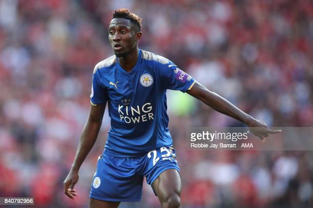 Wilfred Ndidi of Leicester City during the Premier League match between Manchester United and Leicester City at Old Trafford on August 26 2017 in...