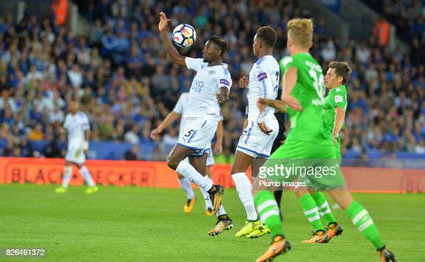 Wilfred Ndidi of Leicester City in action during the Leicester City v Borussia Monchengladbach Preseason Friendly at King Power Stadium on August 04...