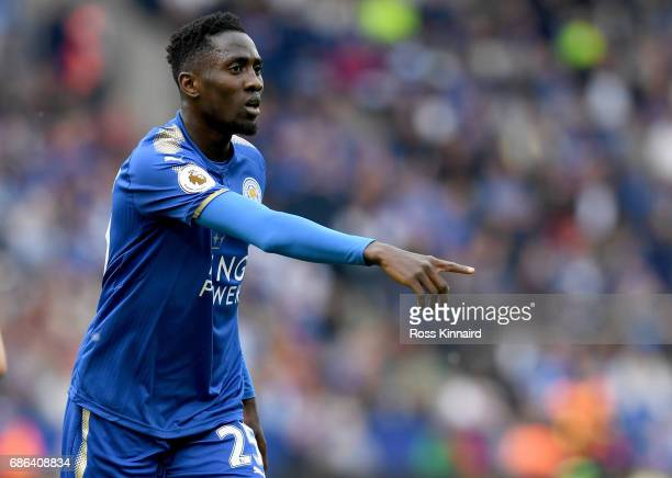 Wilfred Ndidi of Leicester City in action during the Premier League match between Leicester City and AFC Bournemouth at The King Power Stadium on May...