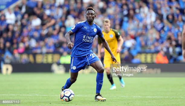 Wilfred Ndidi of Leicester City in action during the Premier League match between Leicester City and Brighton and Hove Albion at King Power Stadium...