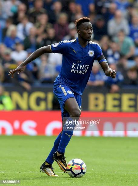 Wilfred Ndidi of Leicester City in action during the Premier League match between Leicester City and Brighton and Hove Albion at The King Power...