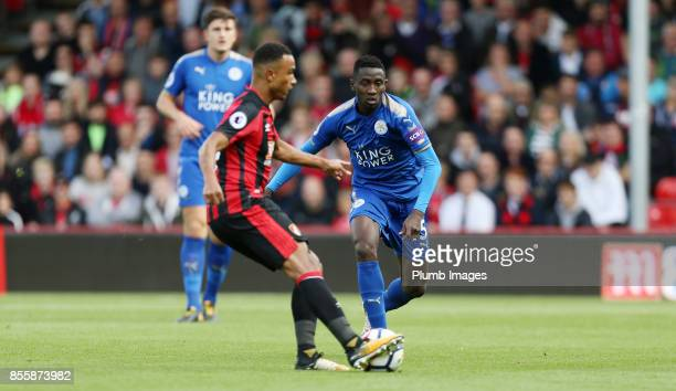 Wilfred Ndidi of Leicester City in action during the Premier League match between Bournemouth and Leicester City at Vitality Stadium on September...