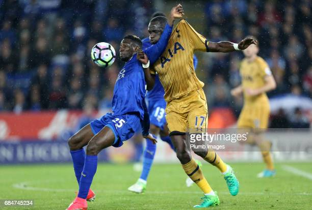 Wilfred Ndidi of Leicester City in action with Moussa Sissoko of Tottenham Hotspur during the Premier League match between Leicester City and...