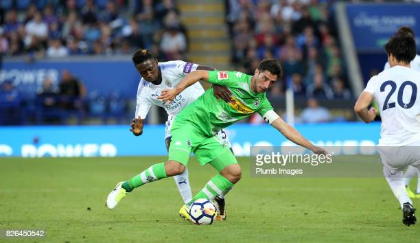 Wilfred Ndidi of Leicester City in acton with Lars Stindl of Borussia Monchengladbach during the Leicester City v Borussia Monchengladbach Preseason...