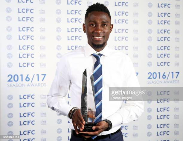 Wilfred Ndidi of Leicester City wins Young Player of the Season award at King Power Stadium on May 15 2017 in Leicester United Kingdom