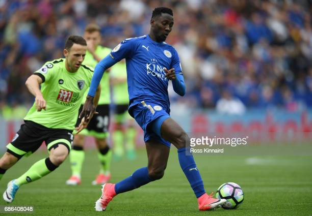 Wilfred Ndidi of Leicster City in action during the Premier League match between Leicester City and AFC Bournemouth at The King Power Stadium on May...